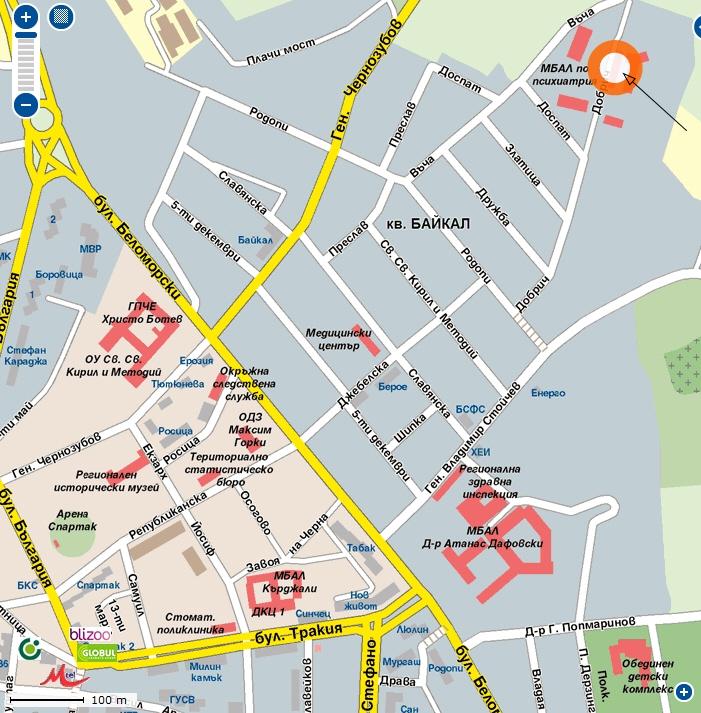 Карта ДПБ - Кърджали